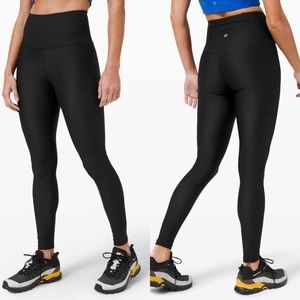 """Lululemon Mapped Out High Rise Tight 28"""" blk/blk"""